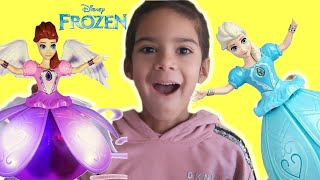 Sam and Abby  play with New Frozen Toys