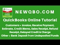 QuickBooks Online Customer Invoice Sales Receipt | Receive Payment Undeposited Funds | Bank Deposit