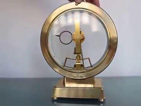 KIENINGER KUNDO Mantel TOP Clock Vintage Electric 6 Jewels German Gilded Shelf