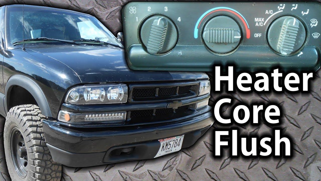 98 s10 heater core flush heater not working very good  [ 1280 x 720 Pixel ]