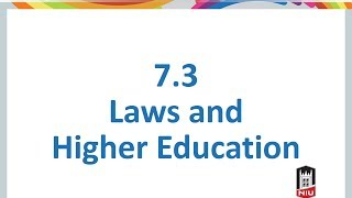 7-3 Laws and Higher Education