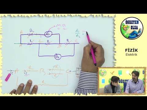 YKS Fizik-YENER HOCA-Elektrik akım dağıtma(ampermetre)