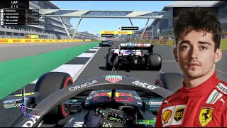 Driving Against Charles Leclerc on F1 2021