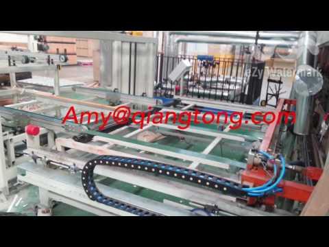 Full automatic short cycle melamine laminate floor hot press machine