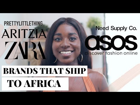 Online Shopping in Africa / Ghana:  International Fashion Brands that Ship to Africa