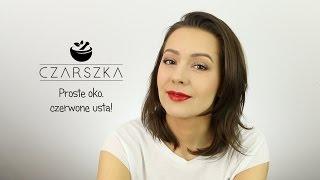 Klasyczny makijaż z czerwonymi ustami :D - Czarszka -