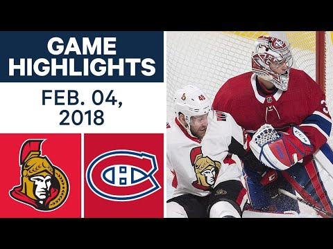 NHL Game Highlights | Senators vs. Canadiens - Feb 4th, 2018
