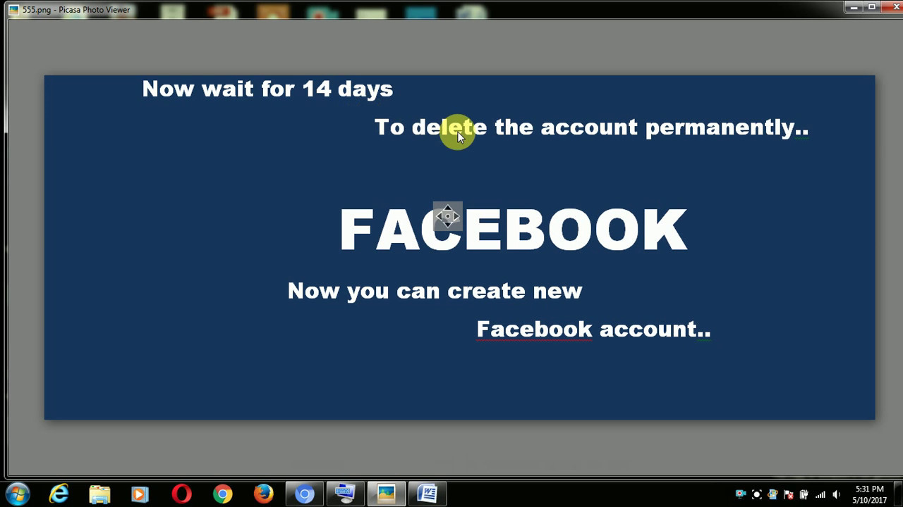 How To Delete Facebook Account Permanently,step By Step