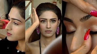 Erica Fernandes is getting ready with makeup and hair for Photoshoot; Watch Video   Shudh Manoranjan