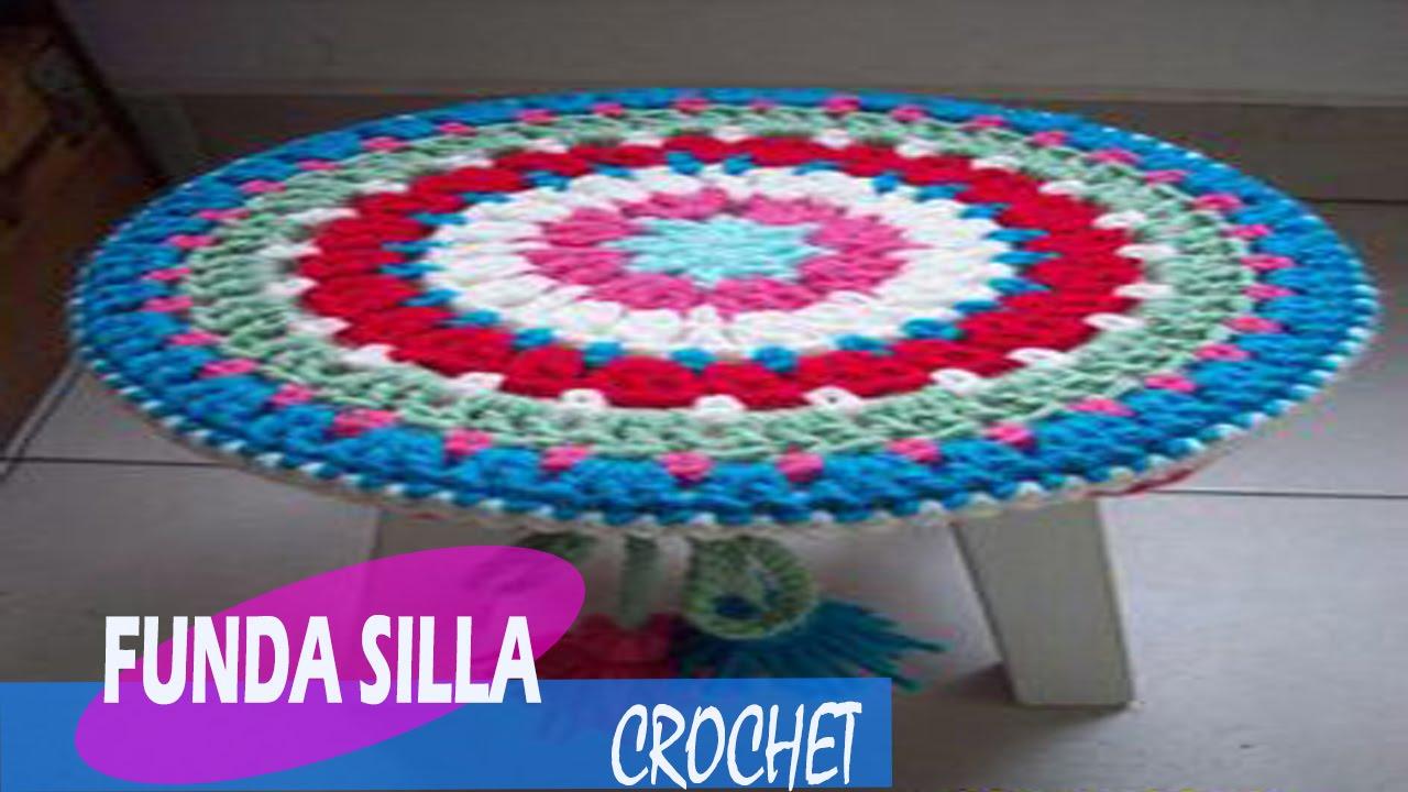 Funda para silla tejidos a crochet youtube - Tejidos para tapizar sillas ...