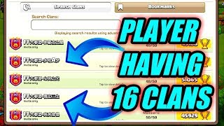 OMG 16 LEVEL 20 CLANS OF 1 PLAYER clash of clans...