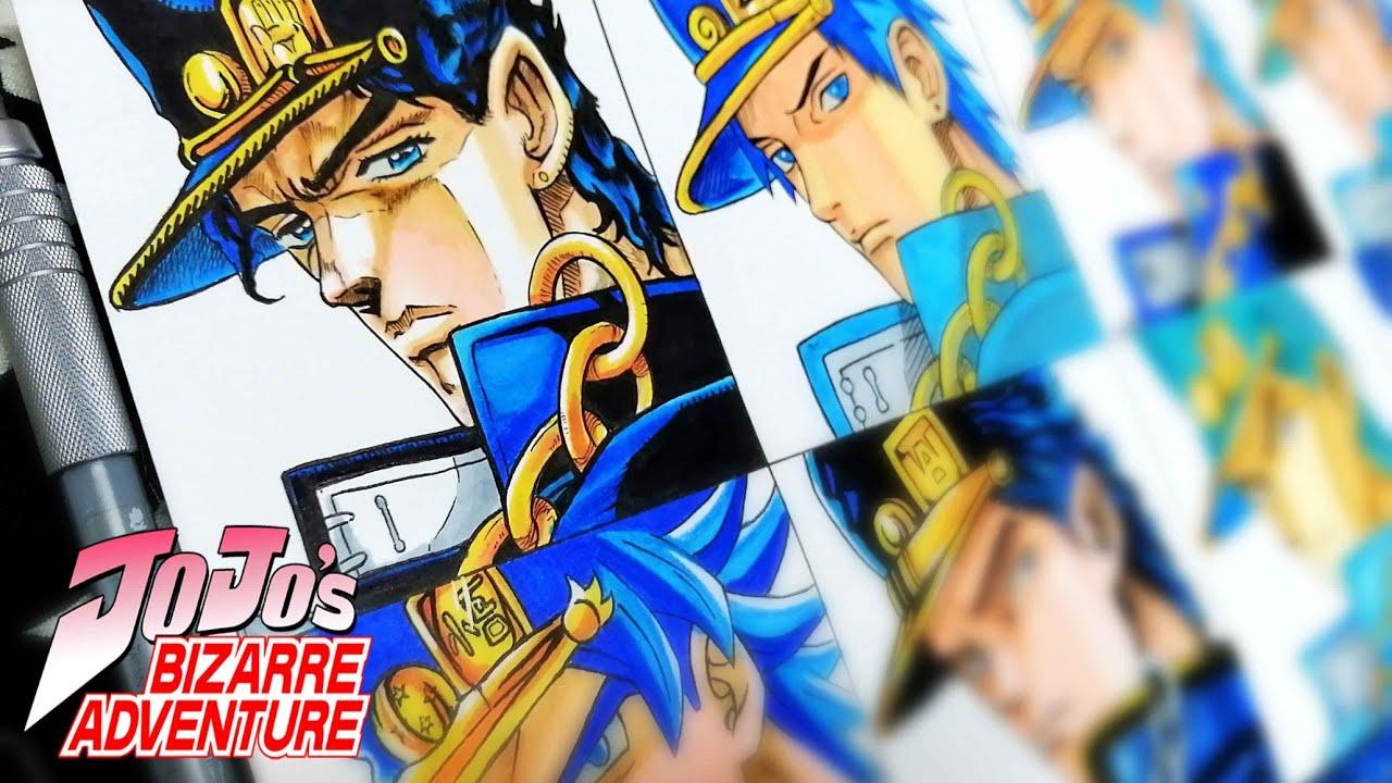 Drawing Jotaro Kujo in Different Anime Styles | Jojo's Bizarre Adventure ジョジョの奇妙な冒険 #47
