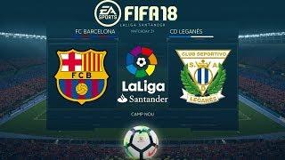 FIFA 18 Barcelona vs Leganés   La Liga 2017/18   PS4 Full Match