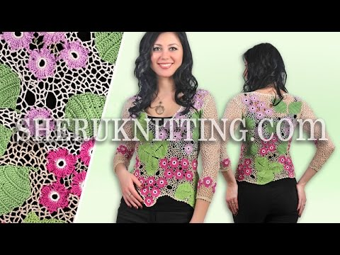 Floral Irish Crochet Lace Blouse Model 26 Irish Crochet Free