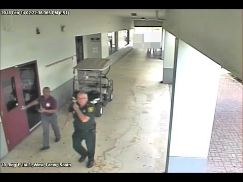 Accused school deputy shown in Florida high school shooting video
