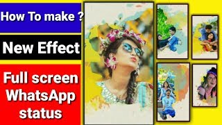 Download How To Make Full Screen Whatsapp Status With Green