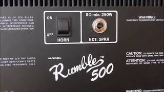 Fender Rumble 500 Review/Demo (+ Wine Glass Test)