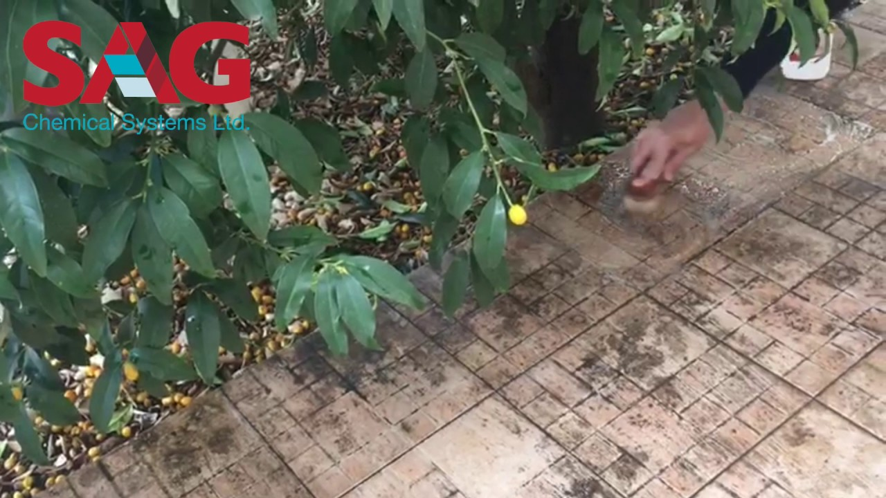 How To Clean Textured Floor Tiles From Fruits Dirt With AC664 By