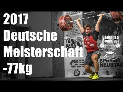 2017 Deutsche Meisterschaft Gewichtheben Männer bis 77kg