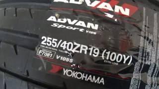 Шины летние Yokohama XL Advan Sport V105S 255/40 ZR19(, 2016-06-14T19:16:53.000Z)