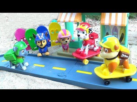 Щенячий Патруль - Щенки На Скейтах - Все серии. Paw Patrol Marshall's Beach Skate Shop.