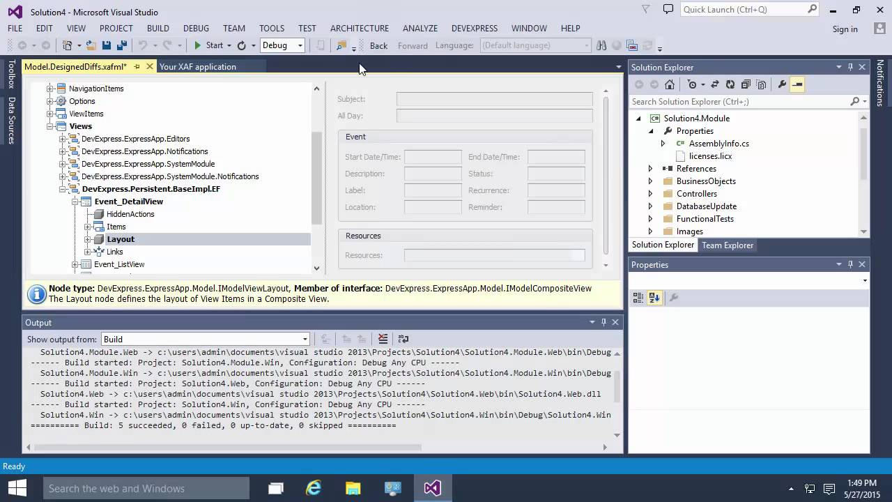 DevExpress XAF: Notifications Module