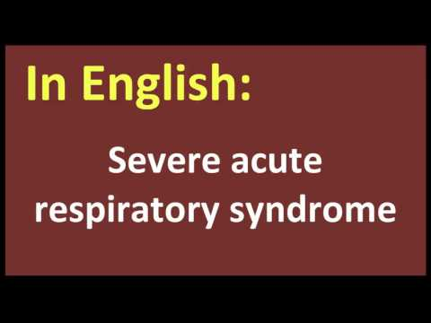 Severe acute respiratory syndrome spanish MEANING