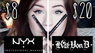 NYX EPIC INK LINER VS KAT VON D TATTOO LINER LASTING IMPRESSION REVIEW
