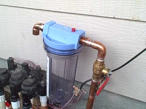 Showing the upgrading and installation of the water filter for Garden water filter