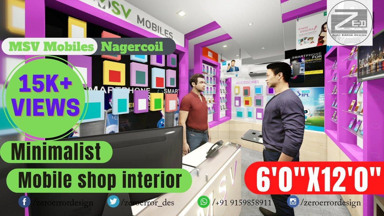 Mobile Shop Interior Design Walk Through Video Architecture India