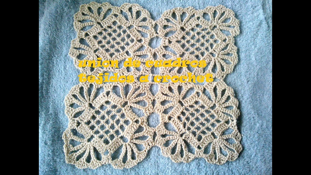 Como hacer un mantel a crochet uniendo cuadros tutorial for Cuadros rectangulares grandes