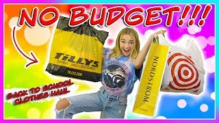 NO BUDGET BACK TO SCHOOL CLOTHING HAUL! | Kayla Davis