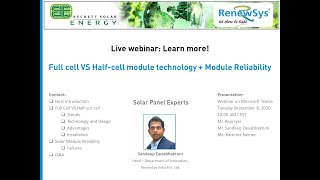Full Cell v/s Half Cell PV Modules and PV Module Reliability