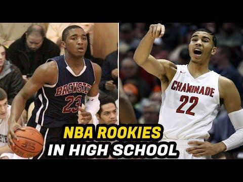 NBA Rookies When They Played High School Basketball! (Jayson Tatum, Donovan Mitchell, Lonzo Ball)