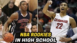 NBA Rookies When They Played High School Basketball! (Jayson Tatum, Donovan Mitchell, Lonzo Ball)