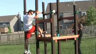 Building The Swing Set In The Backyard By Hand