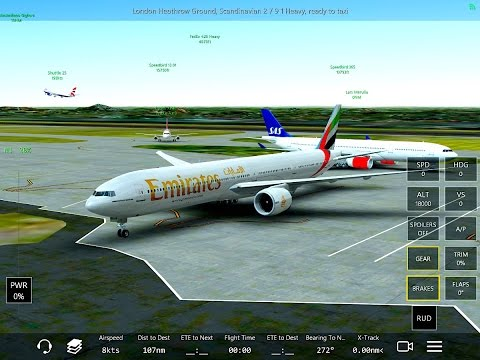 Infinite Flight Boeing 777-300. Multiplayer. Real good ATC WORK APPR.