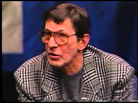Leonard Nimoy and Michael Medved at Hillsdale College