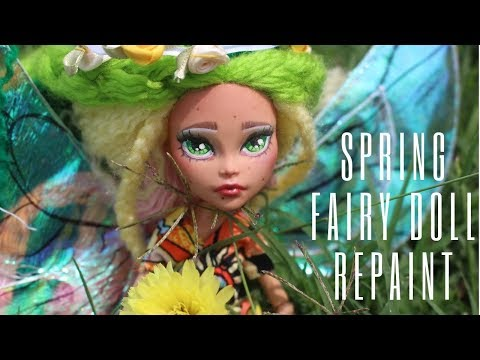 Spring Seasonal Fairy  Doll Repaint| Sparkles