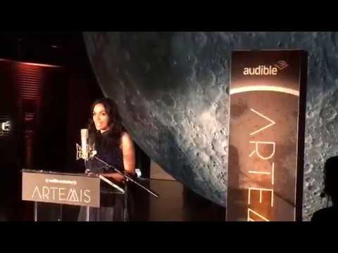 """Rosario Dawson reads from Andy Weir's """"Artemis"""""""
