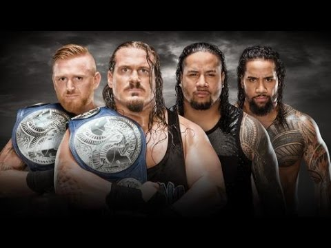 Image result for 2016 WWE No Mercy- Rhyno & Heath Slater (c) vs. The Usos