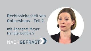Rechtssicherheit von Onlineshops Teil 2 - Händlerbund e.V. | FAIRRANK TV - Nachgefragt