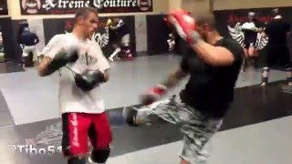 Jay Hieron & Tibor Nagy sparring highlight at Xtreme Couture