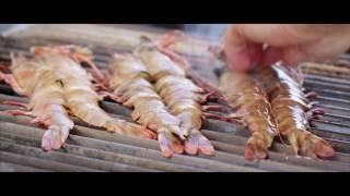 Chargrilled Skull Island Tiger Prawns, courtesy of chef Andy Allen