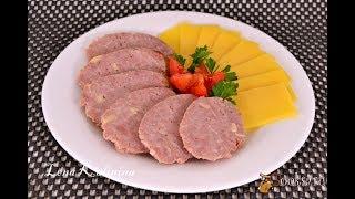 Домашняя колбаса  Сервелат чесночный