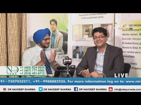 Live Show (Health +) Ayurveda talk on Jus Punjabi(HD) | Dr. Navdeep Sharma at California