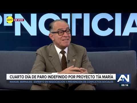 """Cuarto día de paro indefinido por proyecto """"Tía María"""""""