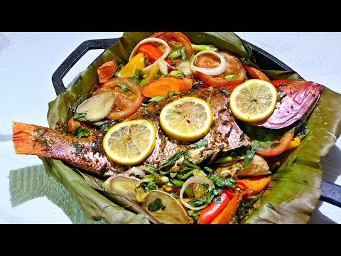 Caribbean Baked Red Snapper | Taste Of Trini