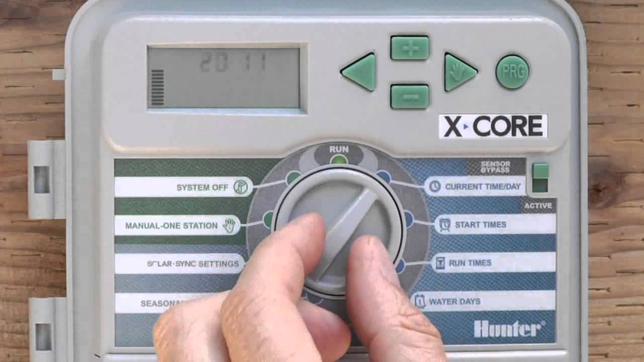 how to run hunter xc sprinkler system