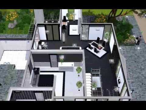 my modern house in the sims 3 youtube. Black Bedroom Furniture Sets. Home Design Ideas
